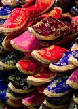 Multicolor slippers Stock Images