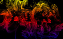 Multicolor Smoke Stock Photography