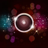 Multicolor Sound Speakek Music Background Royalty Free Stock Photography