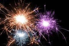 multicolor sparkles för jul Royaltyfri Fotografi