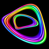 Multicolor spectral closed curve Royalty Free Stock Image