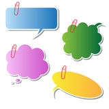 Multicolor speech bubbles Royalty Free Stock Photo
