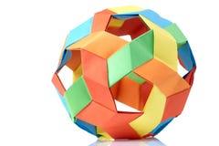 Multicolor sphericalal abstrakcjonistyczna origami dekoracja Zdjęcie Royalty Free