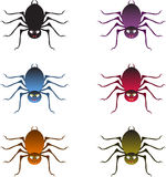 Multicolor Spiders, Spiders Illustrations Stock Photo