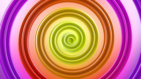 Multicolor spiral shape abstract 3D render. Multicolor spiral shape. Computer generated geometric background. Abstract 3D rendern Stock Illustration