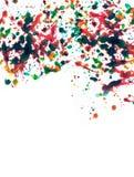 Multicolor splatter Stock Image