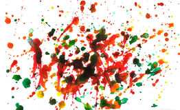 Multicolor splatter Royalty Free Stock Photos