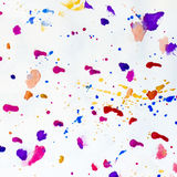 Multicolor Splatter Abstract Background Stock Image