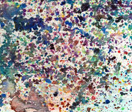 Multicolor Splatters Watercolor Background Stock Photography