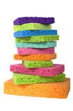 Multicolor Sponges Royalty Free Stock Photography
