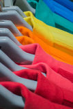 Multicolor sport shirt. Pattern of rainbow Stock Images