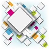 Multicolor square and frame background Royalty Free Stock Images