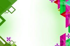 Multicolor square geometric shape, abstrack background Stock Photo