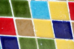 Multicolor square mosaic Stock Photography