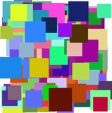 Multicolor squares vector Stock Image