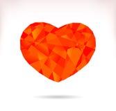 Multicolor srylised сердце Стоковые Фотографии RF