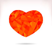 Multicolor srylised heart Royalty Free Stock Photos