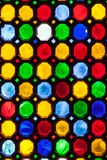 Multicolor stained window glass Royalty Free Stock Images