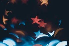 Multicolor stars defocused bokeh  background. Close up. Whole ba Stock Photos
