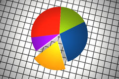 Multicolor statistics Stock Photo