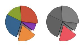 Multicolor statistics royalty free stock photography