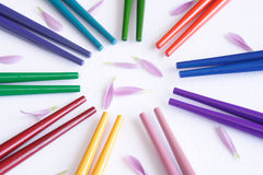 Multicolor sticks Stock Images