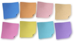 Multicolor sticky notes isolated Royalty Free Stock Image