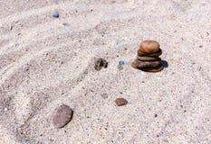Multicolor stones and shells Stock Photo