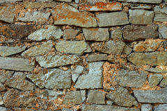 Multicolor stones wall Stock Photos