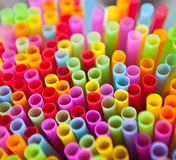 Multicolor straw Stock Photos