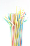 Multicolor straws Royalty Free Stock Photo