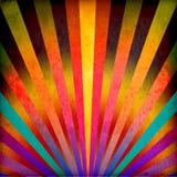 Multicolor Sunbeams grunge background royalty free illustration