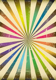 Multicolor sunbeams poster Stock Photo