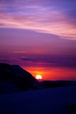 Multicolor sunrise in mountains Royalty Free Stock Photo