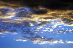 Multicolor sunset sky on summer sea Royalty Free Stock Image