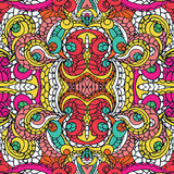Multicolor swirl ethnic seamless pattern.Abstract Stock Photos