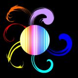 Multicolor swirls background Stock Photos