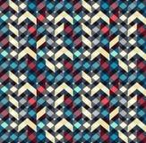 Multicolor szewronu stylu bezszwowy wzór Strzała tekstura Fotografia Stock