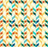 Multicolor szewronu stylu bezszwowy wzór Strzała tekstura Obrazy Royalty Free