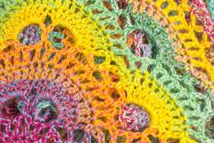 Multicolor szydełkowy tło Zdjęcie Royalty Free