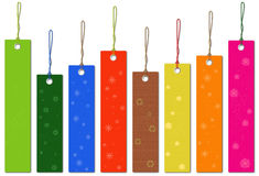 Multicolor tags Royalty Free Stock Images