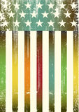 Multicolor textured american flag Royalty Free Stock Photography