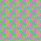 Multicolor thin line abstract bright seamless pattern Stock Image