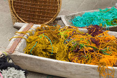 Multicolor thread for knitting Royalty Free Stock Image