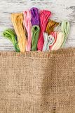 Multicolor Threads for Embroidery Stock Photo