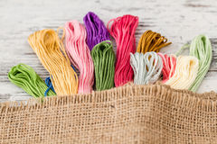 Multicolor Threads for Embroidery Royalty Free Stock Photography
