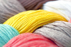Multicolor threads texture Stock Photos