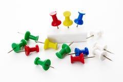 Multicolor thumbtack Stock Image