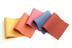 Multicolor tone of fabric sample Royalty Free Stock Images