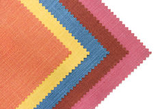 Multicolor tone of fabric sample on white Royalty Free Stock Photos